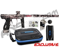 SP Shocker XLS Paintball Gun - Polished Acid Wash Clear