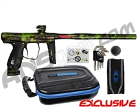 SP Shocker XLS Paintball Gun - Polished Acid Wash Green