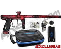 SP Shocker XLS Paintball Gun - Polished Acid Wash Red