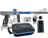 SP Shocker XLS Paintball Gun - Pewter w/ Blue Accents