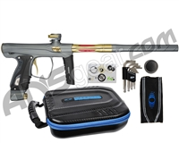 SP Shocker XLS Paintball Gun - Pewter w/ Gold Accents