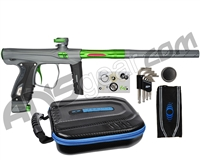 SP Shocker XLS Paintball Gun - Pewter w/ Green Accents