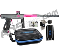 SP Shocker XLS Paintball Gun - Pewter w/ Pink Accents