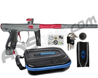 SP Shocker XLS Paintball Gun - Pewter w/ Red Accents
