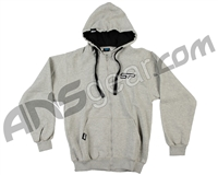 SP Logo Zip Up Hooded Sweatshirt - Grey