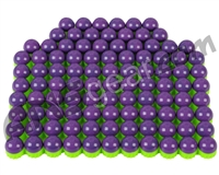 Tiberius Arms First Strike Paintballs 100 Count - Purple/Green Shell - Green Fill