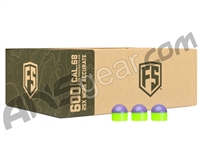Tiberius Arms First Strike Paintballs 600 Count - Purple/Green Shell - Green Fill
