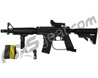 Tippmann US Army Alpha Black Elite Tactical Sniper Paintball Gun Package Kit - Black