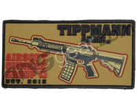 Tippmann Arms Airsoft Owners Group Velcro Patch - Tan