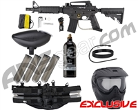 Tippmann US Army Alpha Black Elite Tactical Epic Paintball Gun Package Kit - Black