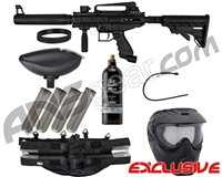 Tippmann Cronus Tactical Epic Paintball Gun Package Kit - Black/Black