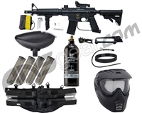 Tippmann US Army Alpha Black Elite Tactical Foxtrot Paintball Gun Package Kit - Black