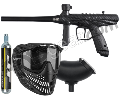 Tippmann Gryphon FX Paintball Gun Power Pack w/ 90g Disposable Co2 Tank -  Carbon Fiber