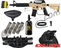 Tippmann US Army Alpha Black Elite Tactical Legendary Paintball Gun Package Kit - Tan