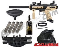 Tippmann Cronus Legendary Paintball Gun Package Kit - Tan/Black