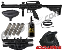 Tippmann Cronus Tactical Legendary Paintball Gun Package Kit - Black/Black
