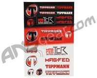 Tippmann TCR Sticker Sheet - 21 Stickers