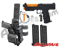 Tippmann TiPX Trufeed Deluxe Pistol Kit - Black/Sunburst Orange