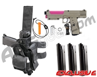 Tippmann TiPX Trufeed Deluxe Pistol Kit - Dark Earth/Dust Pink
