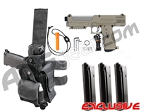 Tippmann TiPX Trufeed Deluxe Pistol Kit - Dark Earth/Dust Silver