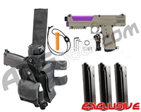 Tippmann TiPX Trufeed Deluxe Pistol Kit - Dark Earth/Electric Purple