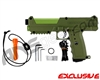 Tippmann TiPX Trufeed Paintball Pistol - Olive Green/Sour Apple