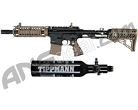 Tippmann TMC Paintball Gun w/ Air-Thru Adjustable Stock & FREE 13/3000 Tank - Black/Tan