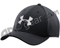 Under Armour Blitzing II Stretch Fit Hat - Black/White (001)