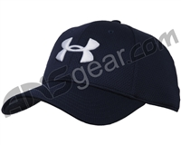 Under Armour Blitzing II Stretch Fit Hat - Midnight Navy/White (410)