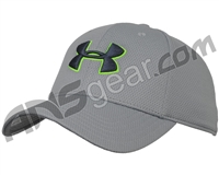 Under Armour Blitzing II Stretch Fit Hat - Steel/Hyper Green (035)