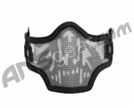 Valken 2G Wire Mesh Tactical Airsoft Mask - Black Skull