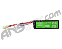 Valken Energy LiPo 11.1v 1600mAh 20C Mini Brick Airsoft Battery (48214)