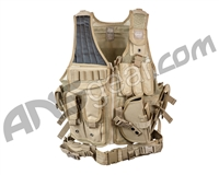 Valken Airsoft Tactical Crossdraw Vest (Adult) - Tan