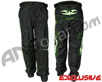 "Valken Fate Exo ""Jogger Fit"" Paintball Pants - Black/Green"