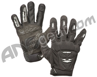 Valken Impact Full Finger Paintball Gloves - Black