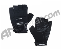 Valken Impact Half Finger Paintball Gloves - Black
