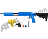 Valken Gotcha Tactical .50 Caliber Shotgun Paintball Gun w/ Stock - Blue