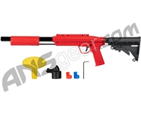 Valken Gotcha Tactical .50 Caliber Shotgun Paintball Gun w/ Stock - Red