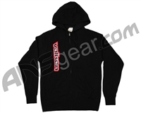 Valken Side Logo Zip Up Hooded Sweatshirt - Black