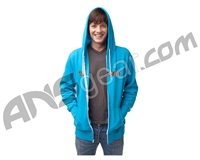 Valken Word Zip Up Hooded Sweatshirt - Turquoise