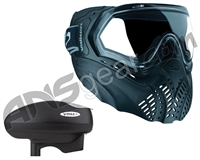 Valken Identity Mask w/ V-Max Plus Loader - Black/Black