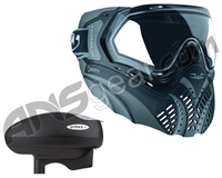 Valken Identity Mask w/ V-Max Plus Loader - Black/Grey
