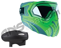 Valken Identity Mask w/ V-Max Plus Loader - Green/Grey