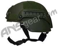 Valken MICH 2000 Tactical Airsoft Helmet w/ Mount & Rails - Green