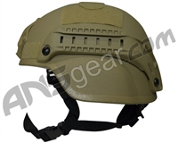 Valken MICH 2000 Tactical Airsoft Helmet w/ Mount & Rails - Tan