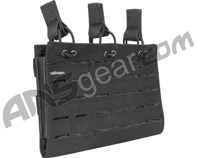 Valken Airsoft Tactical Multi Rifle Mag Pouch LC - Triple - Black