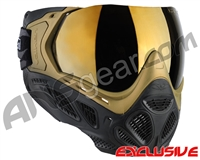 Valken Profit SC Paintball Mask - Gold/Black w/ Gold Mirror Lens