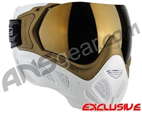 Valken Profit SC Paintball Mask - Gold/White w/ Gold Mirror Lens