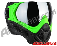 Valken Profit SC Paintball Mask - Green/Black w/ Silver Mirror Lens