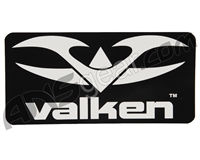 Valken Logo Sticker - White on Black